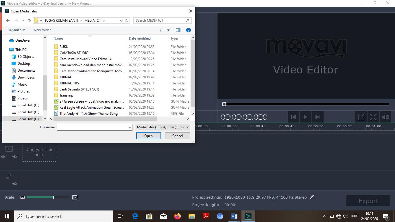 Pilih file edit