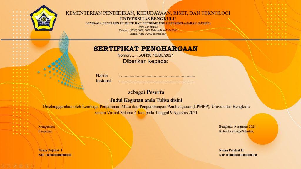 template leaflet webinar